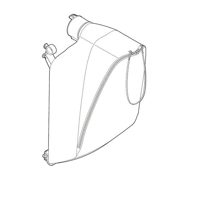 fangsack f r bosch als 25 30 240 elektro laubsauger f016f04200 ebay. Black Bedroom Furniture Sets. Home Design Ideas